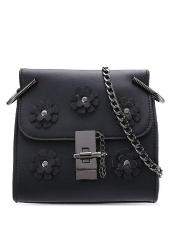 Nose black Flower Diamond Stone Crossbody Bag NO327AC75SNWMY_1