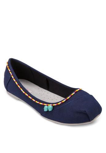 Huizalora退貨chol 珠飾芭蕾平底鞋, 女鞋, 芭蕾平底鞋