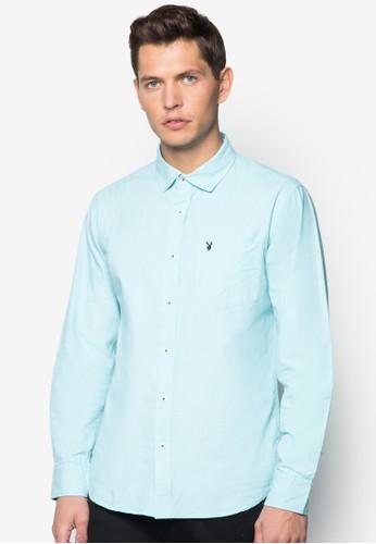 細esprit 會員格紋長袖襯衫, 服飾, 襯衫