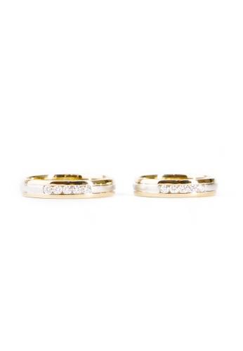 CEBUANA LHUILLIER JEWELRY gold 14 Karat Two-Toned Wedding Ring With Diamond 2B7DBACE7DF9DEGS_1