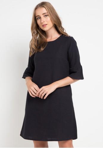 Le'Rosetz navy Linen Dress BC1F7AA673DBAAGS_1