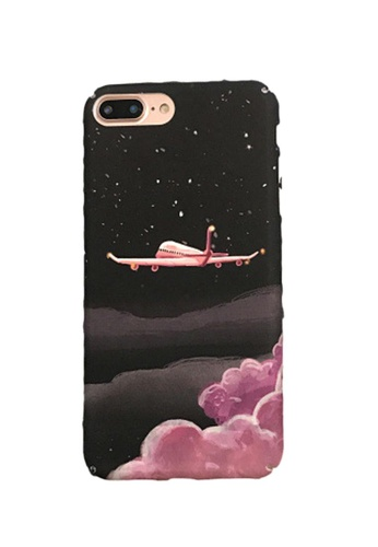 Kings Collection black Pink Airplane iPhone 12 Pro / 12 Case (KCMCL2256) 67067AC65A5F2EGS_1