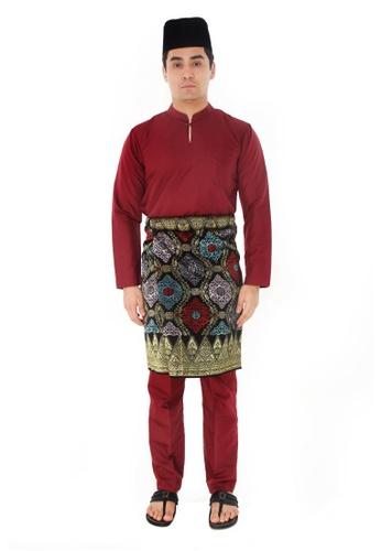 Amar Amran red Baju Melayu Gumbae 7A921AA822BE3EGS_1
