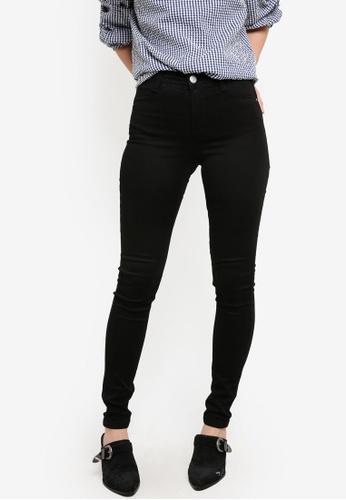 Dorothy Perkins black Regular Black Frankie Ultra Soft Straight Jeans DO816AA02DDTMY_1