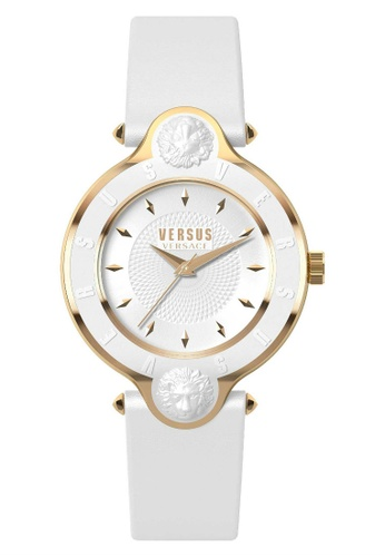 Versus white Versus Versace New Logo White Leather Strap Women's Watch VESCF070016 VE464AC0SZH0MY_1