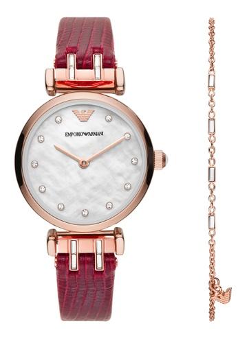 Emporio Armani red Watch AR80052 078F7AC43A541CGS_1
