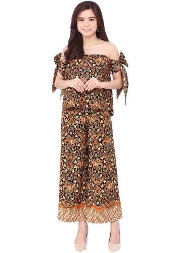 Flike Batik multi Blouse Sabrina Pita Panjang + Celana Kulot Motif Sangkuriang BE305AA1BE4C19GS_1