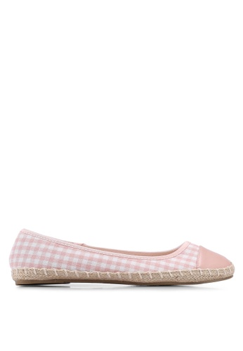 Dorothy Perkins pink Pink Carrie Gingham Espadrilles DAC34SHAD61055GS_1