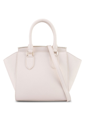 Velvet beige Small Saffiano Top Handle Bag 07FE2AC7D4A7A9GS_1