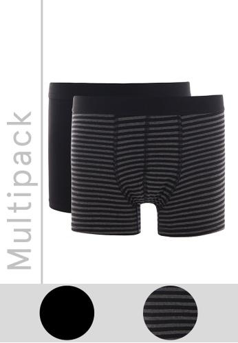 DeFacto black Man 2-pieces Knitted Boxer 8114EUS74D47BBGS_1