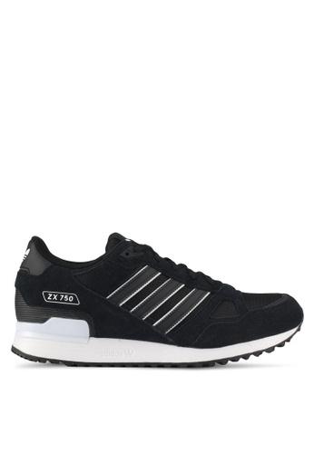 adidas black adidas originals zx 750 AD372SH0SVFBMY_1