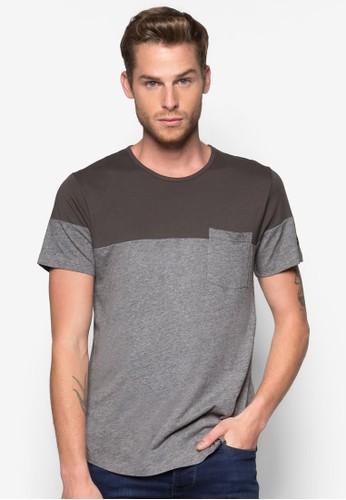 色塊口袋T 恤, 服飾,esprit outlet 台灣 素色T恤