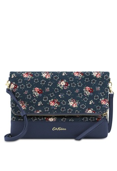 79a5e9cdfd Cath Kidston blue Lucky Bunch Leather Foldover Clutch 1E65BACDABE63EGS_1