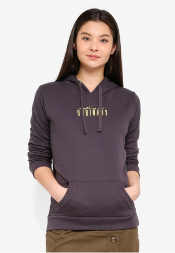Cotton On grey Delevingne Graphic Hoodie 54073AA9F37FAEGS_1