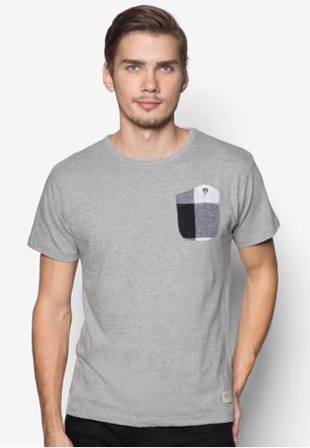 圓領T恤格紋口袋, 服飾,esprit outlet 高雄 素色T恤
