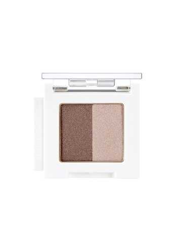 THE FACE SHOP Mono Cube Eyeshadow (Dual) BR04 Chai Tea Chocolate 9EE39BE5C8050FGS_1