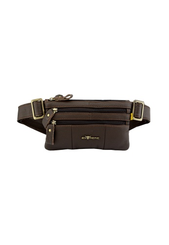 EXTREME brown Extreme Genuine Leather Waist Bag CA7E9ACF8247F2GS_1