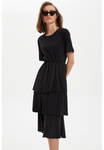 DeFacto black Woman Dress & Skirt Short Sleeve Knitted Dress FF961AA060779EGS_1