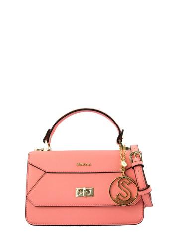 SEMBONIA pink SEMBONIA Synthetic Leather Shouder Bag SE598AC0RJYYMY_1