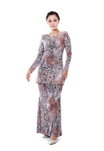 LARA NOUR pink Baju Kurung Aqeela 3BDB5AA12B9209GS_1