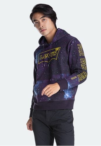 Levi's blue Star Wars™ x Levi's® Graphic Pullover Hoodie (19491-0096) 00D85AADE468B7GS_1