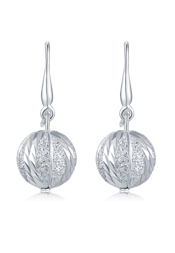 MBLife silver 925 Sterling Silver Dangle Ball Earrings 73966ACC690F37GS_1