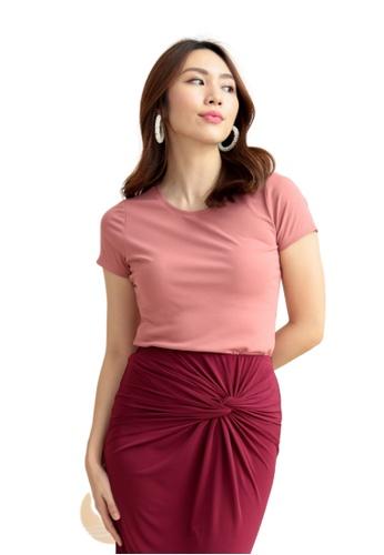 Love Knot 粉紅色 Jolee圓領襯衫(粉紅色) FABB5AA4683448GS_1