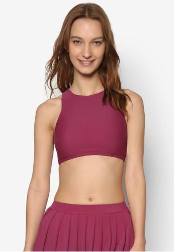 簡約esprit分店高領運動風胸罩, 服飾, 比基尼