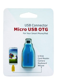 USB CONNECTOR Micro USB OTG For Smart Phone/Pad (BLUE)