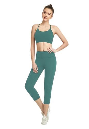 B-Code green ZWG7013Lady Quick Drying Running Fitness Yoga Sports Leggings -Green 88F4FAAE5D915DGS_1