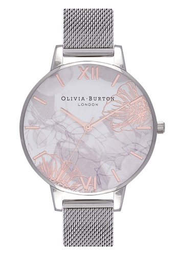 Olivia Burton silver ABSTRACT FLORALS Silver 38 mm Women's Watch 7A7BFAC266BE94GS_1