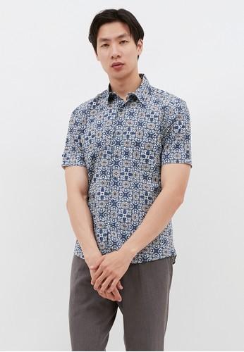 YEGE grey YEGE Short Sleeve Print Shirt 5049 17696AA0E86E18GS_1