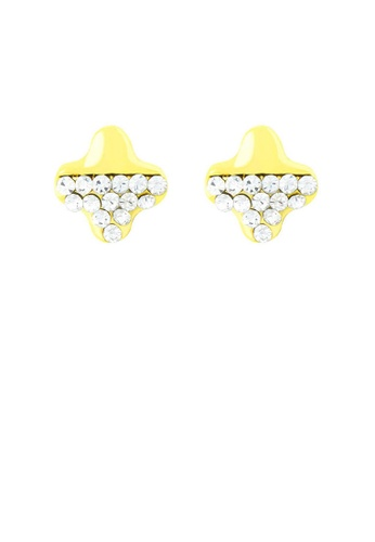 Glamorousky silver Golden Star Earrings with Silver Austrian Element Crystal 89511AC713843DGS_1