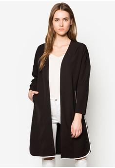 Collection Contrast Binding Longline Cardigan