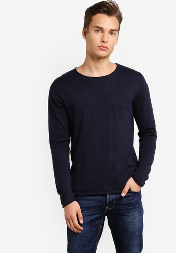 Selected Homme blue Crew Neck Knitted Pullover SE364AA72TOXMY_1