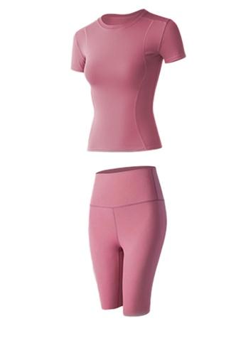 Sunnydaysweety pink Skinny Top with Bike Shorts Set A081020PI 7E7EBAAFBD8A47GS_1