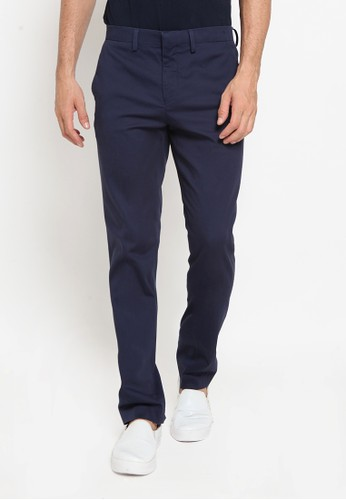 The Executive navy Slim Fit Long Pants 58287AADFD4EBDGS_1