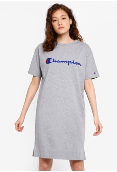 4d7818ac6e19 Champion grey Japan Range One Piece T-Shirt Dress F05ADAA4C17CDDGS_1