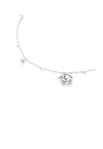Glamorousky silver Elegant Flower Anklet with Silver Austrian Element Crystals 3B1A9ACE3781C2GS_1