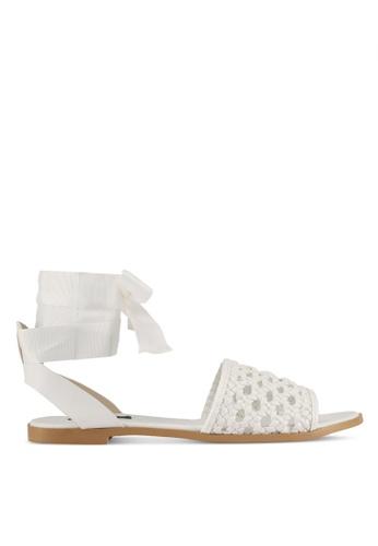 ZALORA white Braided Sandals 6314DSHC0B0216GS_1