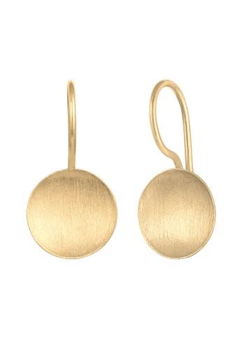 Elli Germany gold Perhiasan Wanita Perak Asli - Silver Anting Hanger Basic Circle Gold Plated B7B6AACC7FCA05GS_1