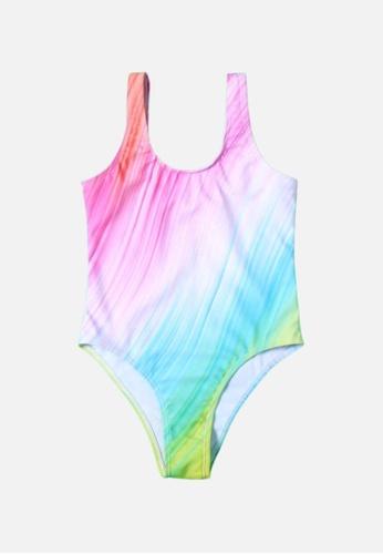 Mommy Hugs multi Rainbow One Piece Swimwear for Girls 4FAFCKA3EFF462GS_1