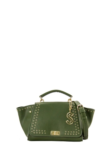SEMBONIA green SEMBONIA Synthetic Leather Satchel Bag (Dark Green) 3E6AAAC5CCCF59GS_1