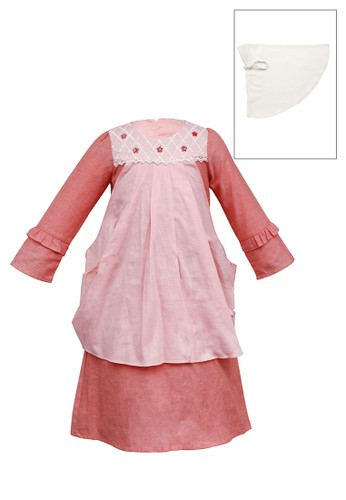 INFINE red Muslim Dress Anak Esm 229 6/16 29293KA442B859GS_1