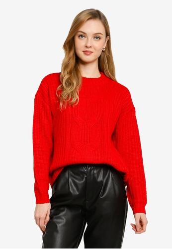 Vero Moda red Presleyalpine Long Sleeve O-neck Sweater B2233AA0A0503EGS_1