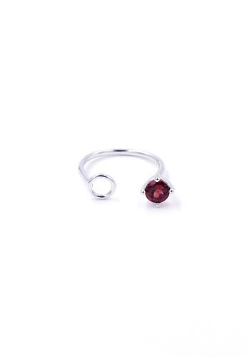 Jewcells red TRYNGO Birthcells January Ring JE724AC2W97HHK_1