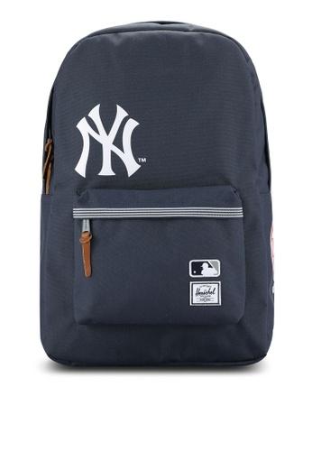 Herschel navy Yankees Heritage Backpack HE114AC0RE92MY_1