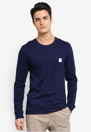 ESPRIT navy Long Sleeve T-Shirt ES374AA0T18CMY_1