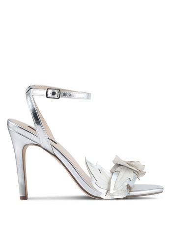 ZALORA silver Classy Leaf Heels 8923BSHDD3EDCEGS_1