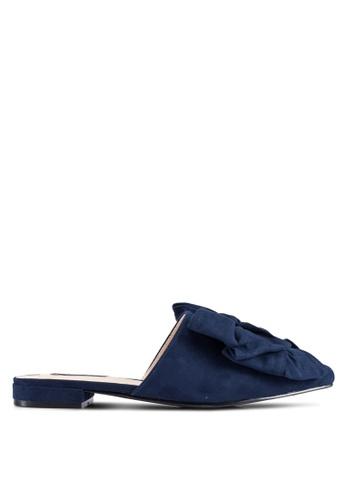 ZALORA 海軍藍色 Knot 拖鞋 7A979ZZEB9B0F1GS_1